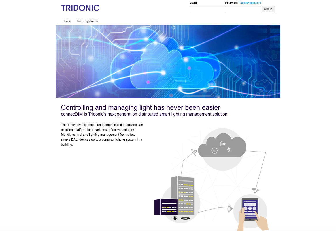 Tridonic connecDIM screenshot